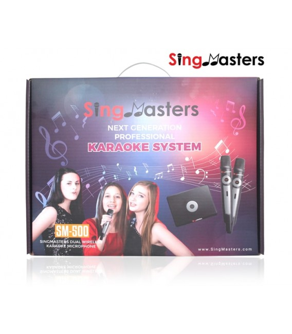 Arabic Edition-SM500 SingMasters Karaoke System Dual Wireless Microphones
