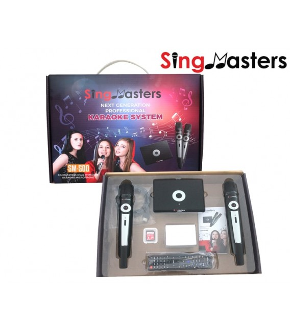Swedish Edition-SM500 SingMasters Karaoke System Dual Wireless Microphones