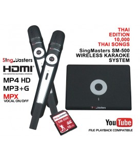 Thai Edition-SM500 SingMasters Dual Wireless Microphones Karaoke Machine System,10,000 Thai Karaoke Songs