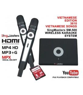 Vietnamese Edition-SM500 SingMasters Dual Wireless Microphones Karaoke Machine System,3610 Vietnamese Karaoke songs