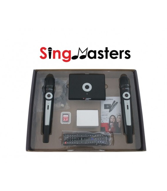 Korean Karaoke Edition-SM500 SingMasters Karaoke System Dual Wireless Microphones