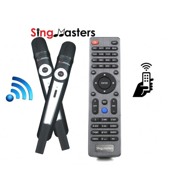 Malayalam Edition-SM500 SingMasters Karaoke System Dual Wireless Microphones