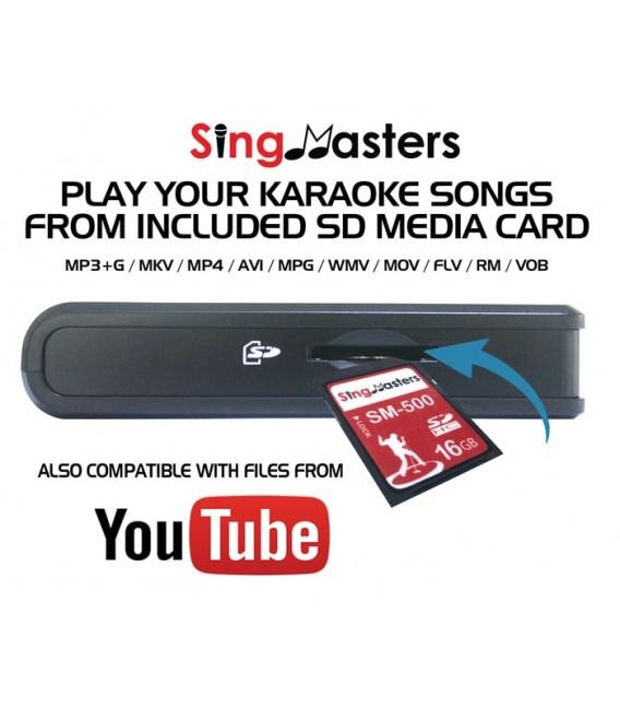 Marathi Edition-SM500 SingMasters Karaoke System Dual Wireless Microphones