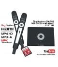Telugu Edition-SM500 SingMasters Dual Wireless Microphones Karaoke Machine System,16 Telugu & 5300 Indian Karaoke songs